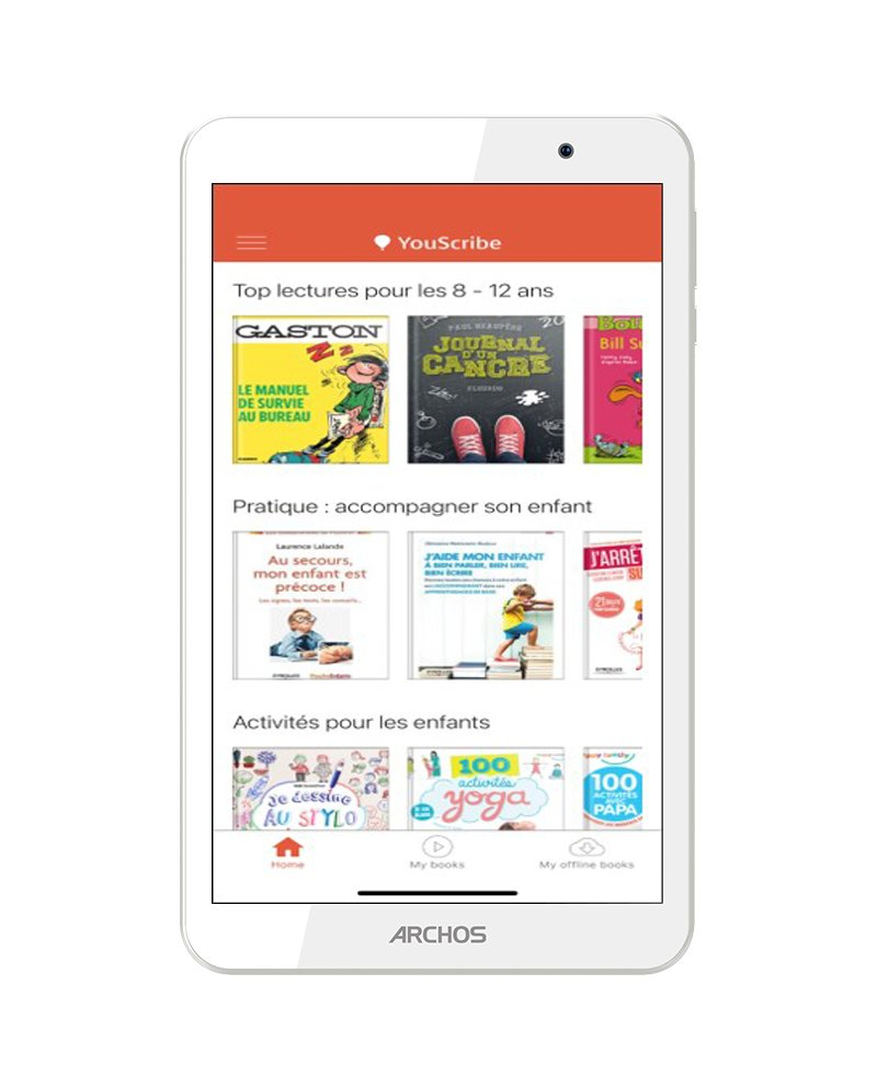 ARCHOS T80 WIFI 16GB YOUSCRIBE - TABLETTE TACTILE 8'' WIFI AVEC ABONNEMENT YOUSCRIBE - GRISE
